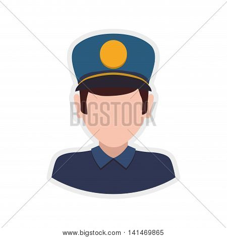 postman delivery shipping logistic security icon. Isolated and flat illustration. Vector graphic