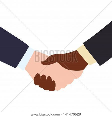 deal hand shake gesture business icon. Isolated and flat illustration. Vector graphic