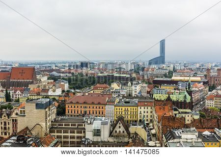 Urban Landscape Of The City Wroclaw.