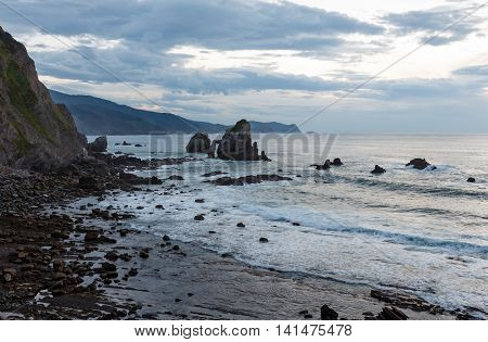 Biscay Bay Coast Landscape, Spain.