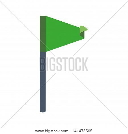 flag green pennant winner sport icon. Isolated and flat illustration. Vector graphic