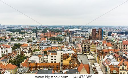 Wroclaw On A Cloudy Day.