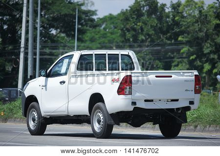CHIANGMAI THAILAND -JULY 27 2016: Private Pick up Car Toyota New Hilux Revo . On road no.1001 8 km from Chiangmai Business Area.