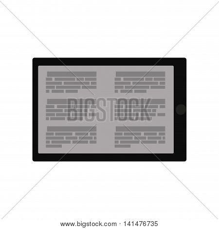 ebook tablet internet web reading lerning icon. Isolated and flat illustration. Vector graphic