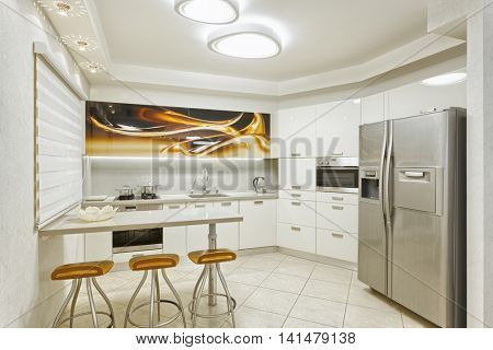 Classic Kitchen Design and Dinner Room