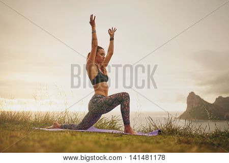 Muscular Woman Practicing Yoga