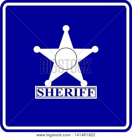 sheriff star badge sign