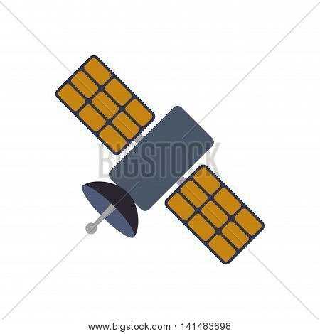 satellite science space communication icon. Isolated and flat illustration. Vector graphic
