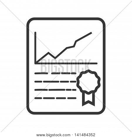 infographic seal document paper icon. Isolated and flat illustration. Vector graphic
