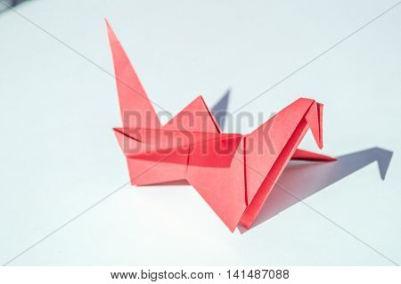 Paper cranes made in the art of origami