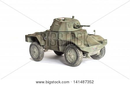 scale model of old vehicle, tanks and vehicles
