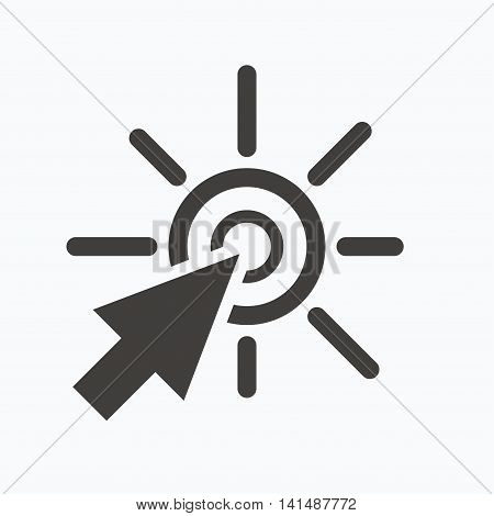 Click icon. Computer mouse cursor symbol. Gray flat web icon on white background. Vector