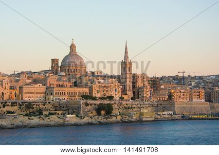 View of the capital of Malta Valletta.