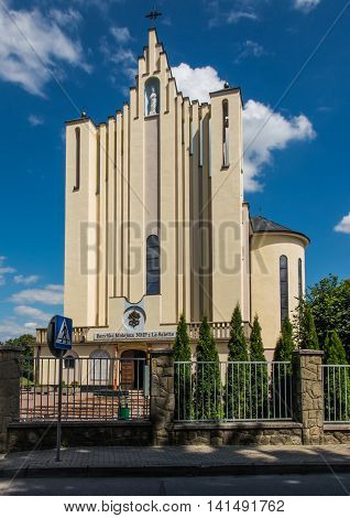 Basilica of the Virgin of Our Lady of La Salette in Dębowiec in Poland. The Fathers Missionaries of La Salette