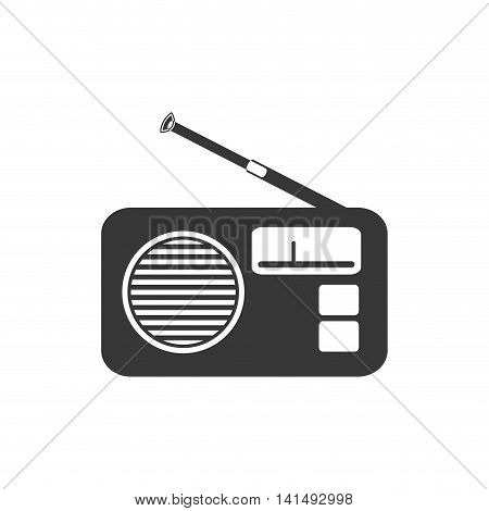 music radio sound melody icon. Isolated and flat illustration. Vector graphic