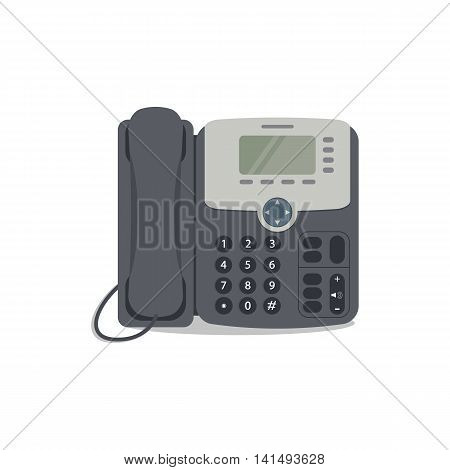 Vector phone icon. Flat phone icon on a white background. Vector illustration can be used for web banner, web and mobile, infographics
