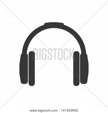 headphone music sound melody icon. Isolated and flat illustration. Vector graphic