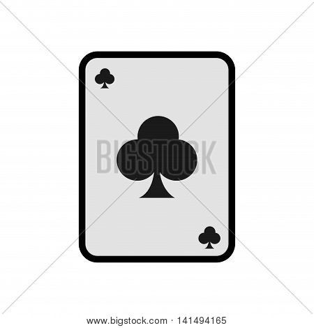 card casino las vegas game lucky icon. Isolated and flat illustration. Vector graphic