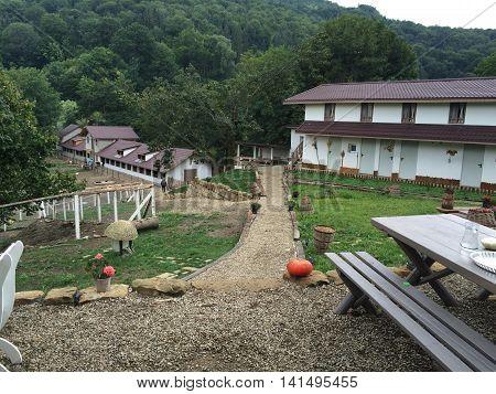 Romania, August 20, 2015, Romania, August 2015, Gura-Teghii, Moldova,  Mountains Bed&breakfast  near the village