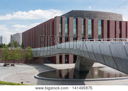 Katowice, Poland - July 10, 2016: Building of the National Polish Radio Symphony Orchestra.