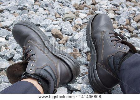 Cracks deterioration of shoes. Not safe for work.
