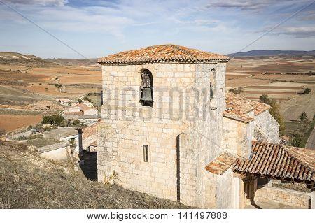 San Miguel church in Los Ausines - Barrio Sopeña - Burgos, Spain