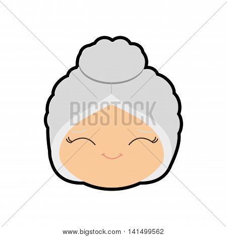 santas wife merry christmas cartoon celebration icon. Isolated and flat illustration. Vector graphic