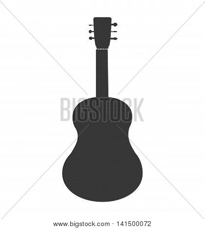 guitar music instrument sound melody icon. Isolated and flat illustration. Vector graphic
