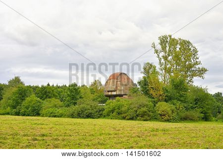 Summer landscape and Astronomical Pulkovo observatory in St.Petersburg Russia.