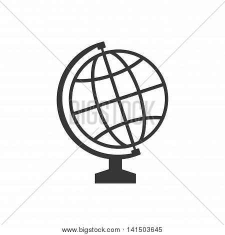global sphere supply instrument school education icon. Isolated and flat illustration. Vector graphic