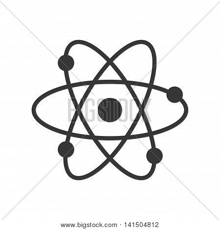 atom science chemistry laboratory icon. Isolated and flat illustration. Vector graphic
