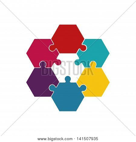 puzzle jigsaw game figure icon. Isolated and flat illustration. Vector graphic