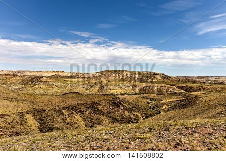 View of the natural landscape from the Four Corners where four US states intersect.