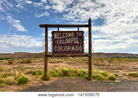 Colorado - July 1, 2016: Sign