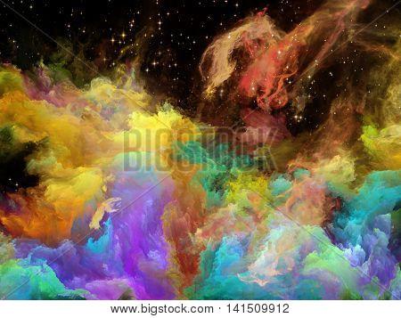 Lights Of Space Nebula
