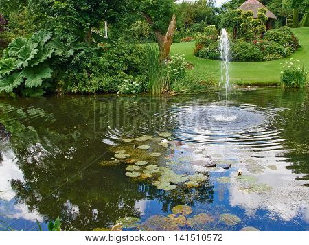 Ornamental pond images stock photos illustrations for Ornamental pond filters
