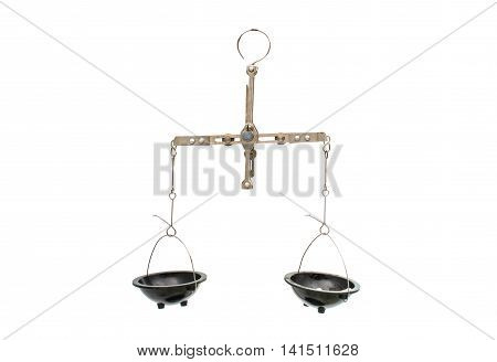 laboratory equipment scales on a white background