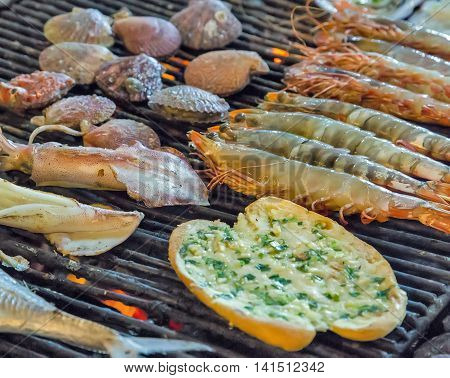 Grill Mollusk Mussel