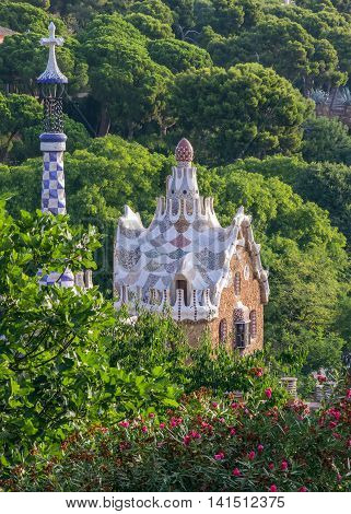 House In Garden Barcelona Gaudi