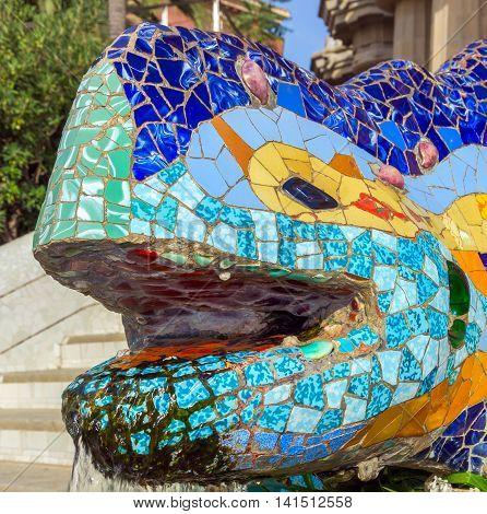 Head Dragon Barcelona Gaudi