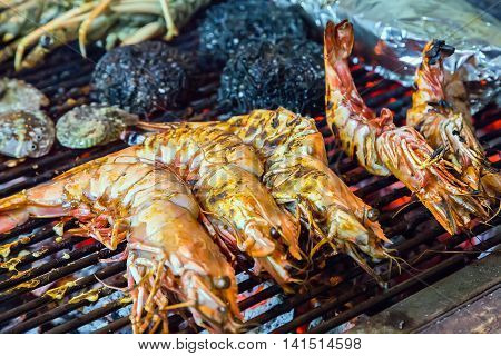 Tiger Shrimps Food Barbecue