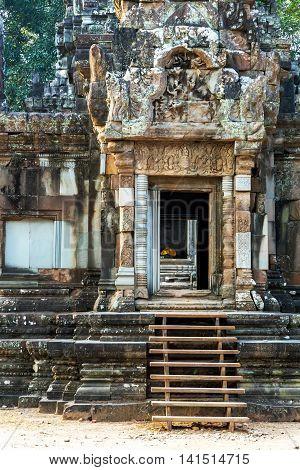 Door, Stairway Angkor Wat, Khmer Temple
