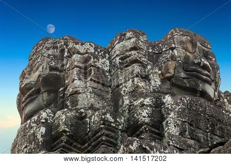 Bayon Temple, Stone Faces In Angkor, Cambodia