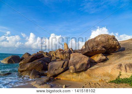 Landscape Rocks Beach Samui Island