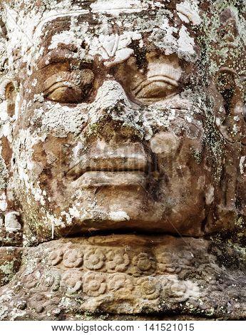 Sculpture Angkor Wat, Khmer Temple Complex, Asia. Siem Reap, Cambodia.
