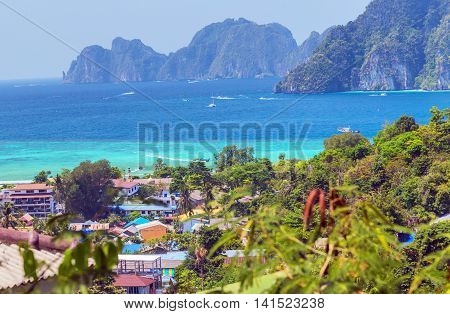 View Point Koh Phi Phi Don Beach In Thailand