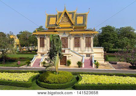Gold Royal Palace Exterior Pnom Penh, Cambodia