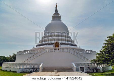 White Japanese Peace Pagoda