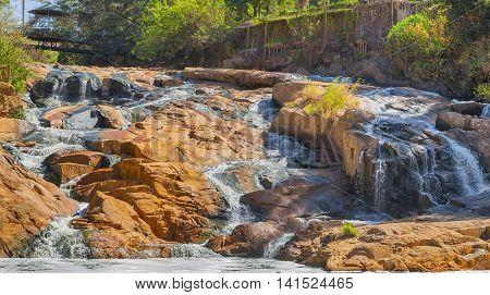 Stream Waterfall In Da Lat City Dalat, Vietnam