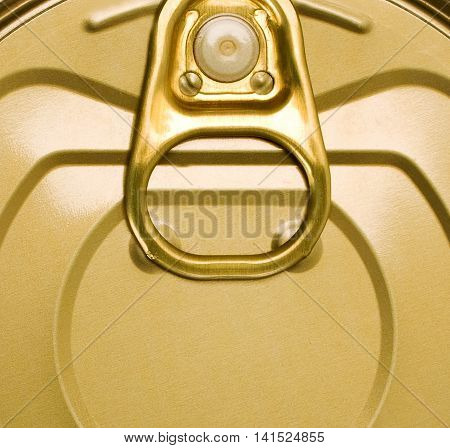Tin can with ring pull background object metal